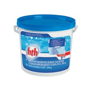 Многофункциональные таблетки стабилизированного  хлора 5 в 1, 200 гр.   1,2 кг купить в Уфе