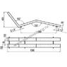 Лежак воздушного массажа двухполосный нерж. сталь, плитка (АС 04.08) купить в Уфе
