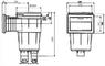 Скиммер под плитку IML с квадратной крышкой (A059) купить в Уфе
